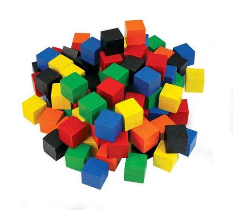 Cubes 2cm wood coloured