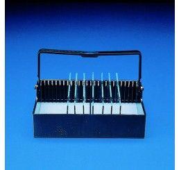 Staining rack 92x80mm holds 25 slides