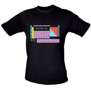 Periodic Table T-shirt, Medium