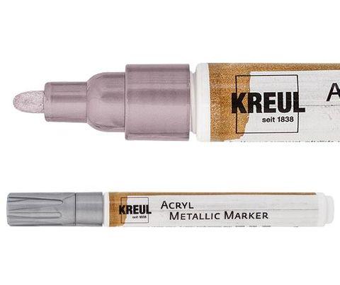 Kreul acryl metallic marker med silver