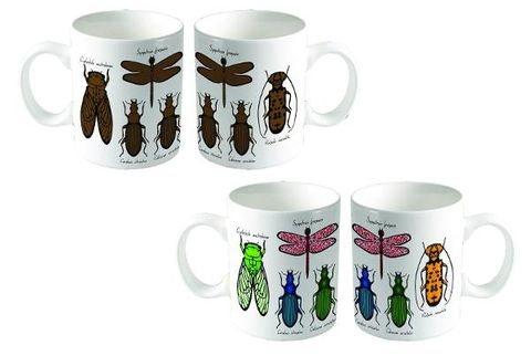 Colour change bugs entomology mug