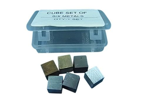 Cube set 1cm edge in plastic box set:6