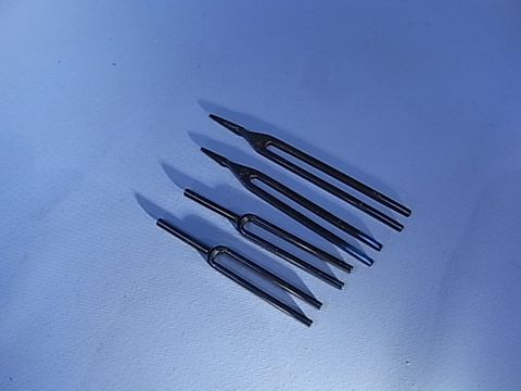 Tuning fork (A) 426.6 Hz blued steel