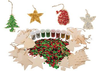 Wooden hanging Christmas craft