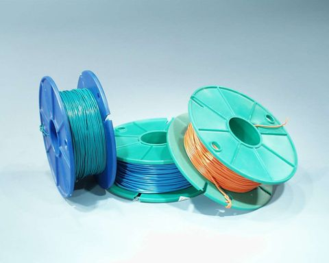 Wire copper bellwire Red 1x0.5mm 100mt