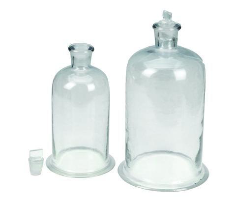Bell jar glass w/stopper 225x150mm