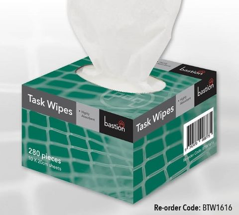Task wipes 10x20cm 280 sheets *Bulk*