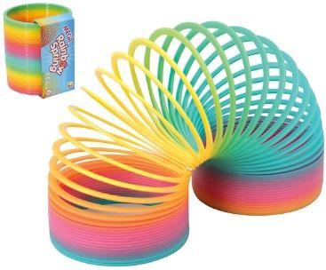 Mega Rainbow Slinky Spring 10cm diam.