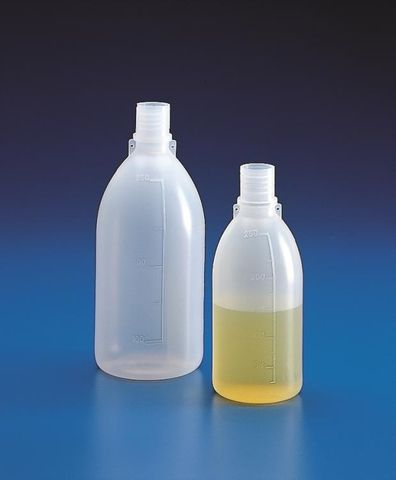 Bottle grad LDPE 100ml GL18 neck w/o cap