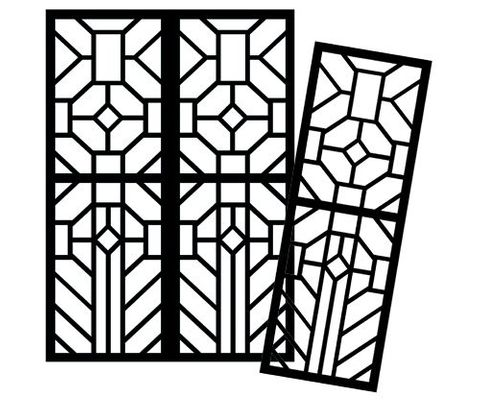 Cardboard Stained Glass Frames 20's