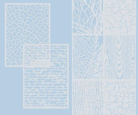 Stencil & Rubbing Sheets A4 8s -Texture
