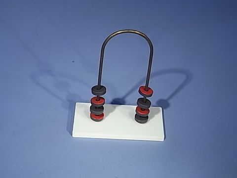 Magnet stand w/6 floating ring magnets