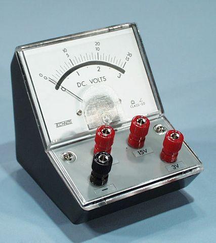 Meter student 2R/V 0-3/0-15V DC