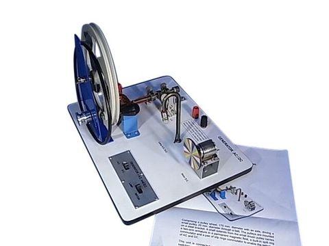 Motor generator, AC/DC hand operated