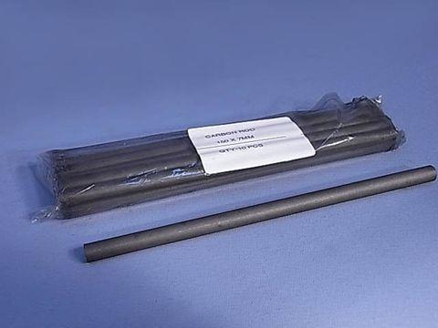 Carbon rods 150 x 7-8mm diam