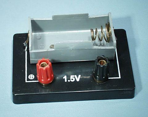 Holder battery 1x D cell 4mm terminal