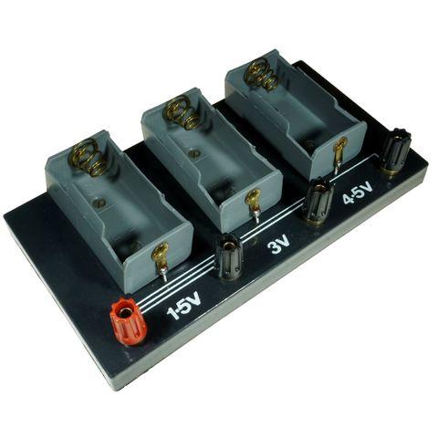 Holder battery 3x D cell 4mm terminal