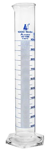 Measuring cylinder glass 1000ml class A