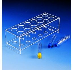 Test tube rack PMMA 12 place x 28mm