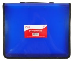 Binder Stat A4 2R zipper w/handle blue