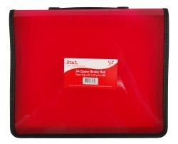 Binder Stat A4 2R zipper w/handle red