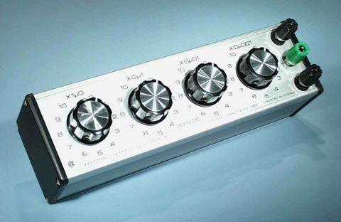 Capacitor box3 dial 1.111uFx.001uF x400V