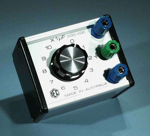 Capacitor box 1 dial 10uFx1.0uFx250V DC