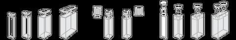 Cuvette optical glass 5mm path length