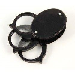 Magnifier triple lens folding 5x 10x 15x