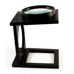 Magnifier folding glass stand 110mm dia.