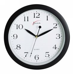 Clock wall black 25cm