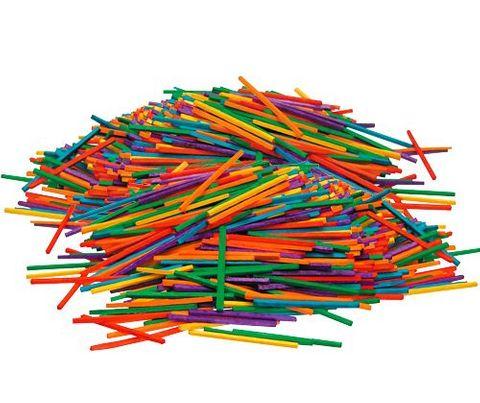 Matchsticks coloured