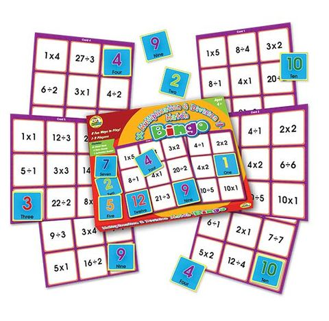 Multipication and division match bingo