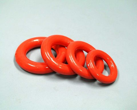 Flask weight ring PVC coated 74mm ID