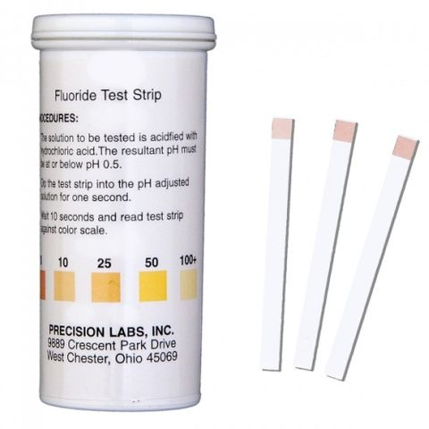 Fluoride test strips 0-100ppm