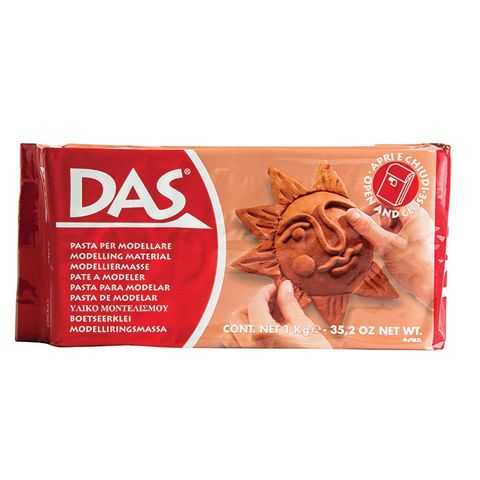 DAS air dry clay - terracotta