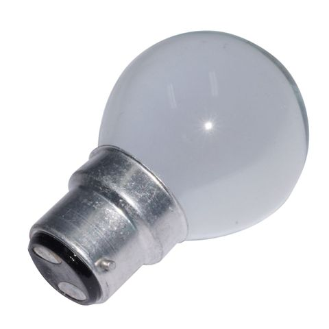 Lamp globe F/R pearl BC 240V 25W