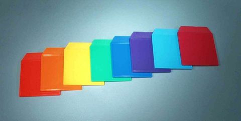 Light box colour card plastic Cyan