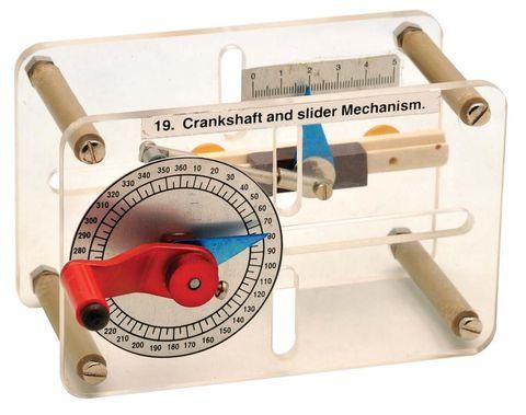 Crankshaft and slider mechanism