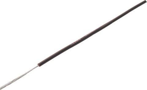 Wire copper-tinned 7x0.16 strand Black