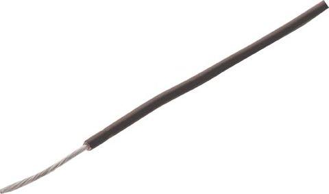Wire copper-tinned 24x0.20 strand Black