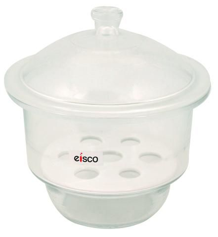 Desiccator boro glass w/knob 240mm