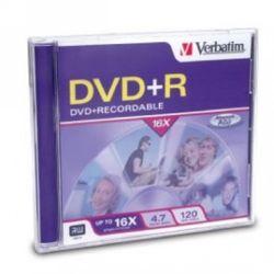 DVD+R Verbatim 4.7gB, 8x jewel case