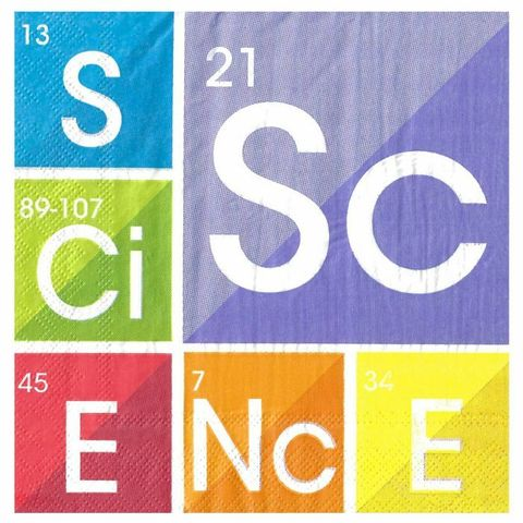 Science Party large napkins