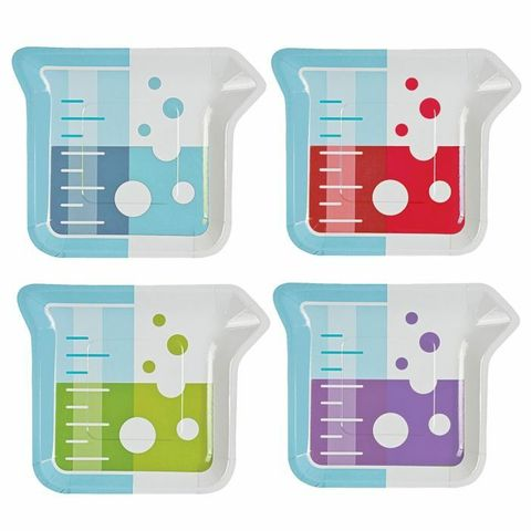 Science Party small paper plates