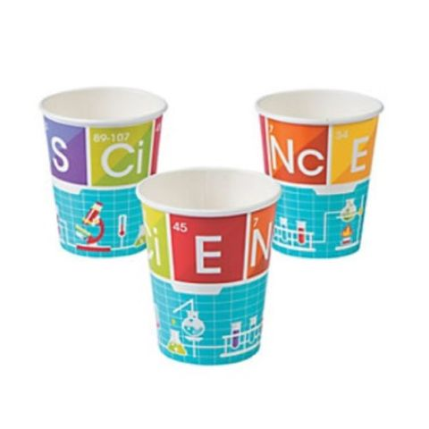 Science Party cups