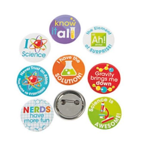 Science Party button badges