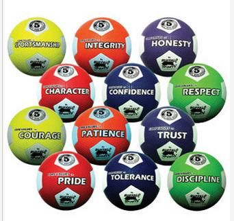 Rubber Soccer Ballls Core Values Set