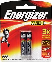 Batteries Energizer Max E92 AAA