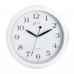 Clock wall white 25cm